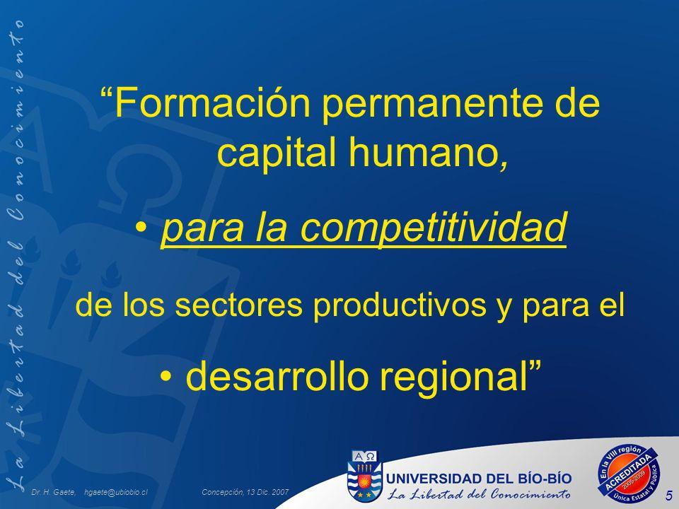 Formación permanente de capital humano, para la competitividad