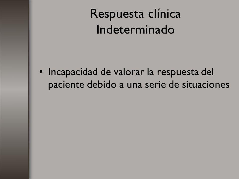 Respuesta clínica Indeterminado