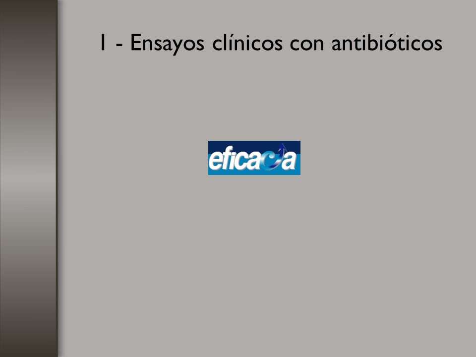 1 - Ensayos clínicos con antibióticos