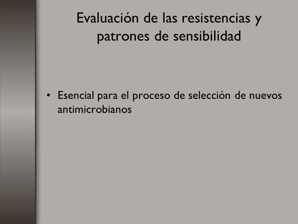 Evaluación de las resistencias y patrones de sensibilidad