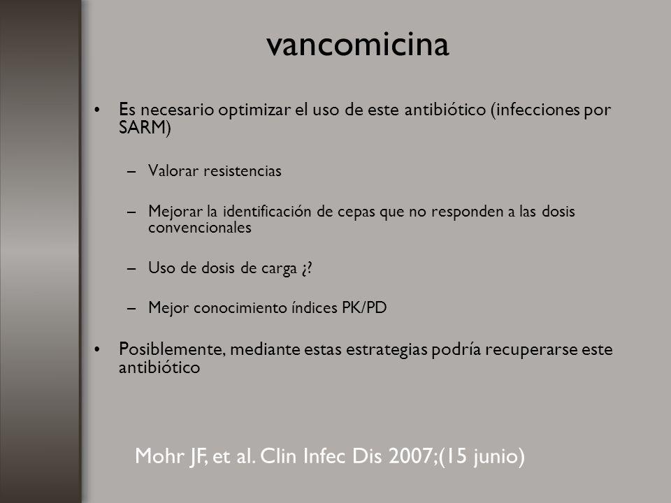 vancomicina Mohr JF, et al. Clin Infec Dis 2007;(15 junio)