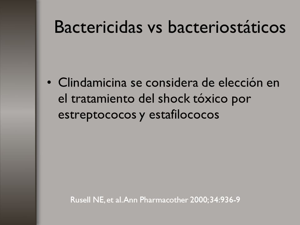 Bactericidas vs bacteriostáticos