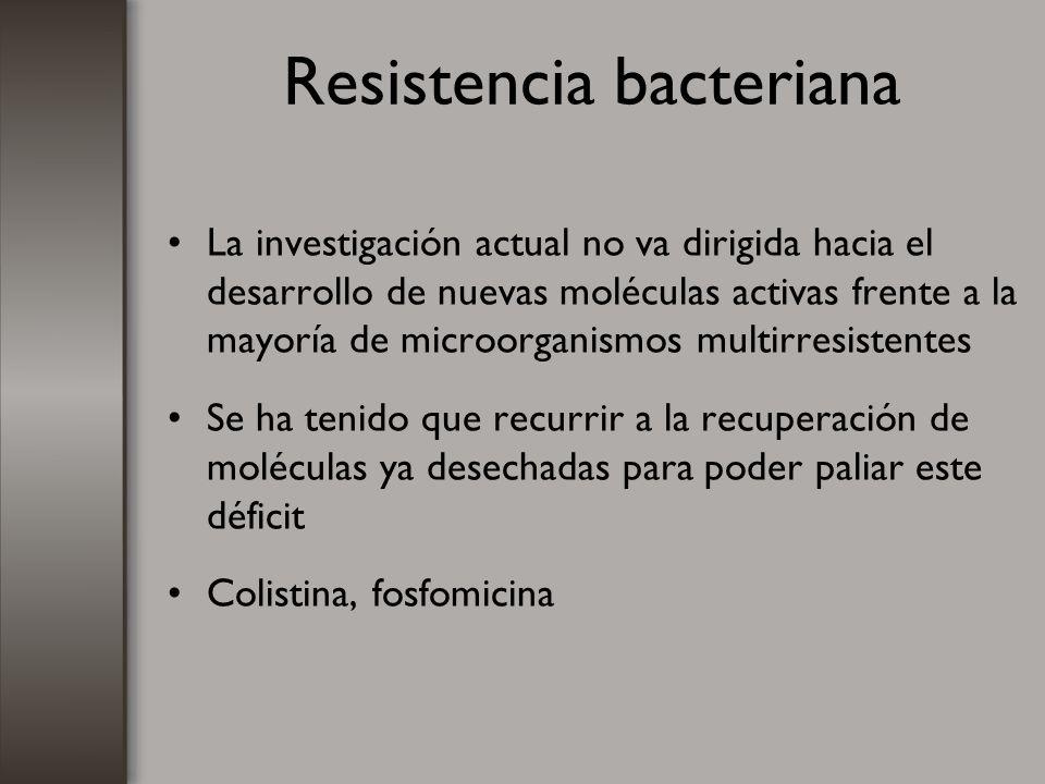 Resistencia bacteriana