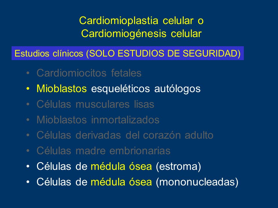 Cardiomioplastia celular o Cardiomiogénesis celular