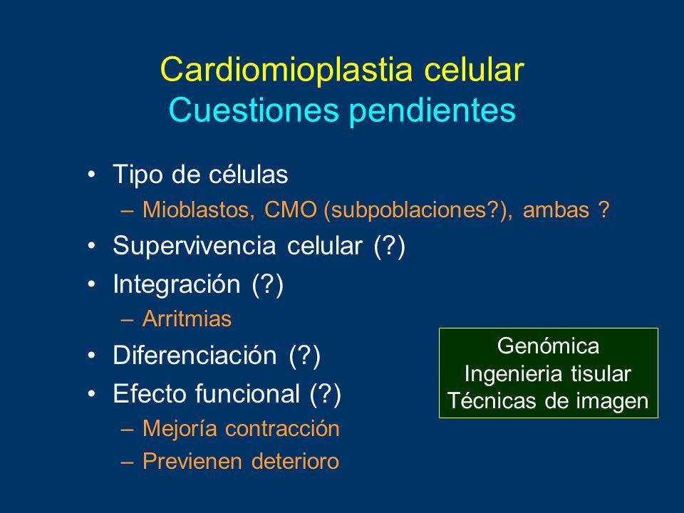 Cardiomioplastia celular Cuestiones pendientes