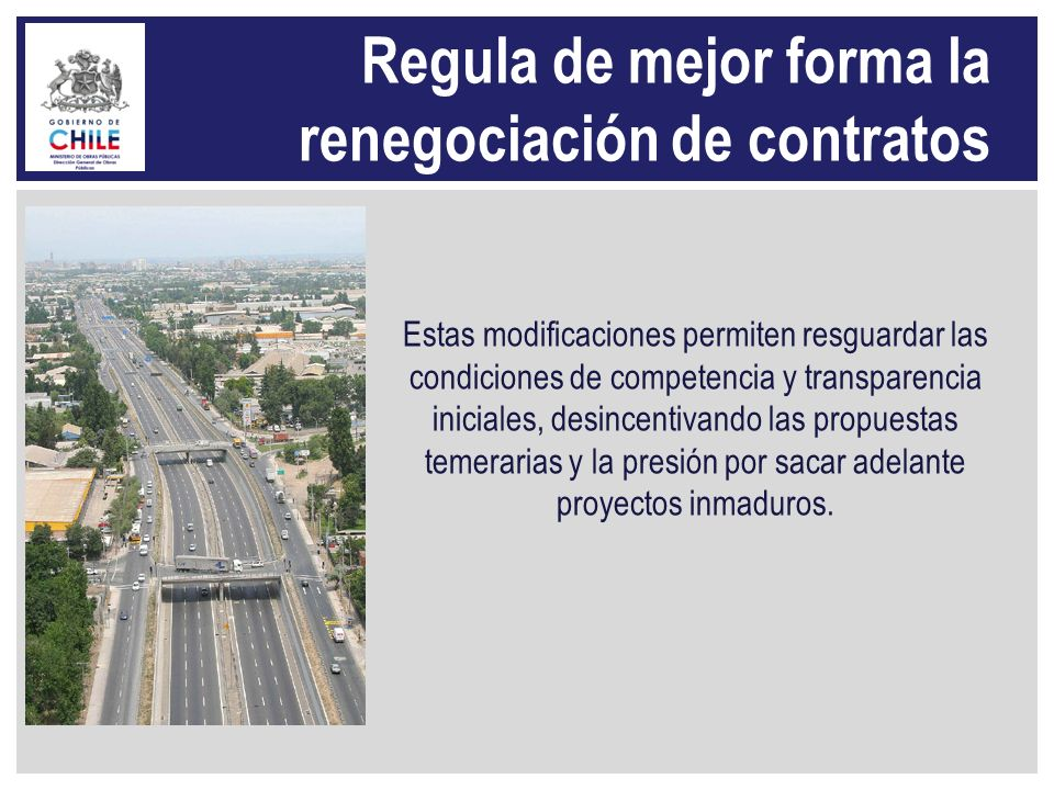 Regula de mejor forma la renegociación de contratos