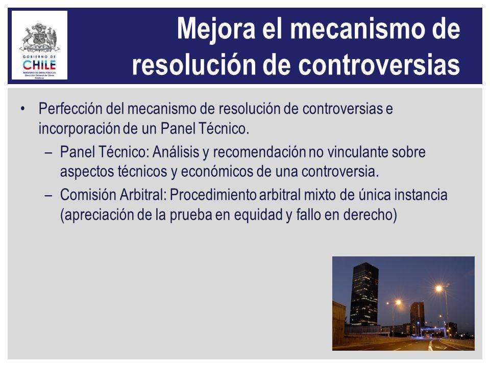 Mejora el mecanismo de resolución de controversias