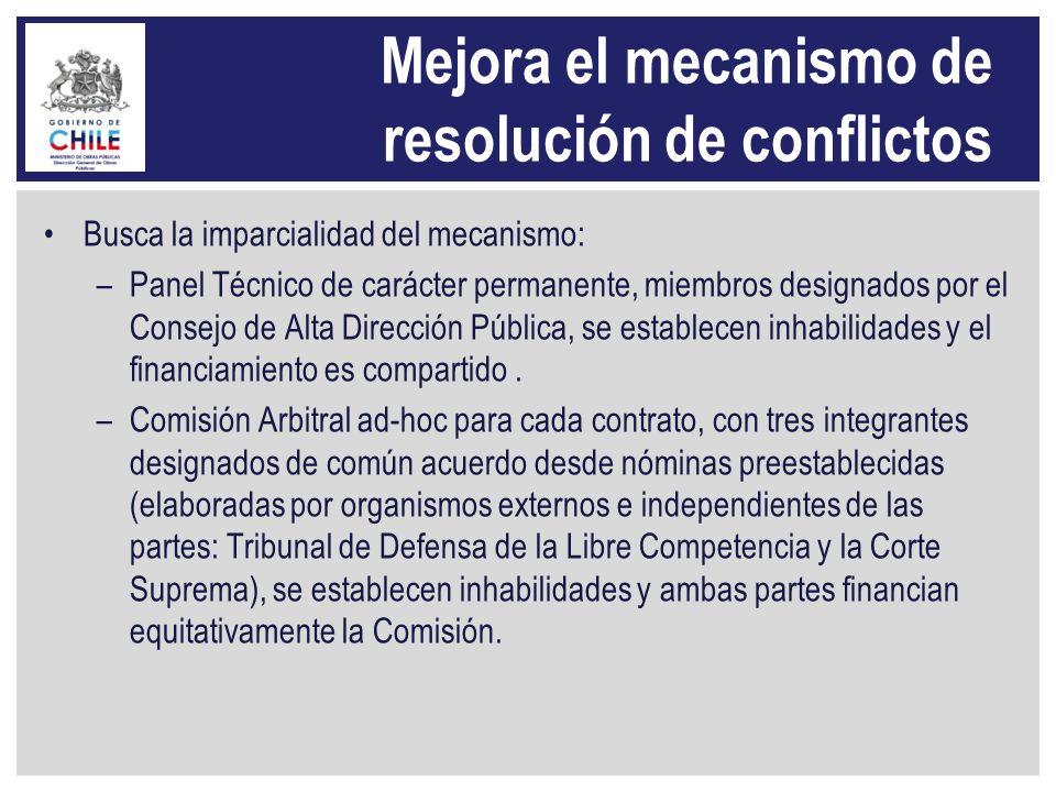 Mejora el mecanismo de resolución de conflictos
