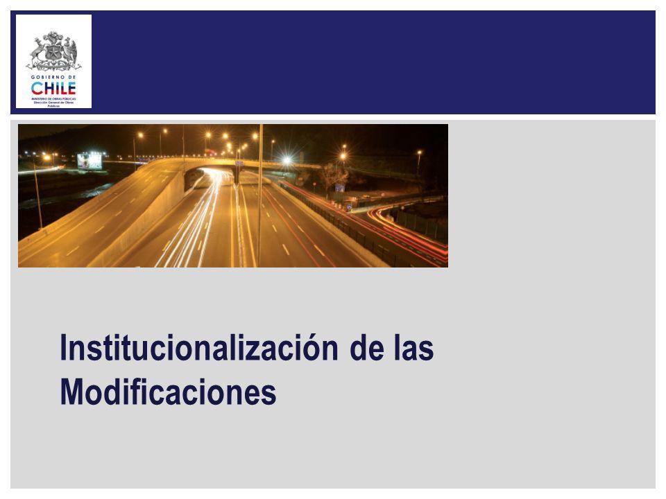 Institucionalización de las Modificaciones