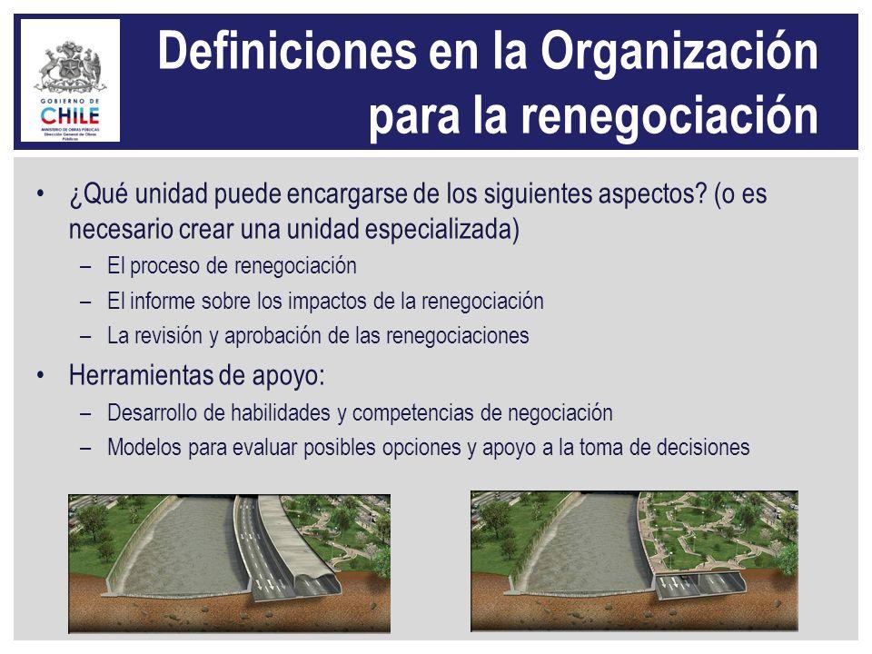 Definiciones en la Organización para la renegociación