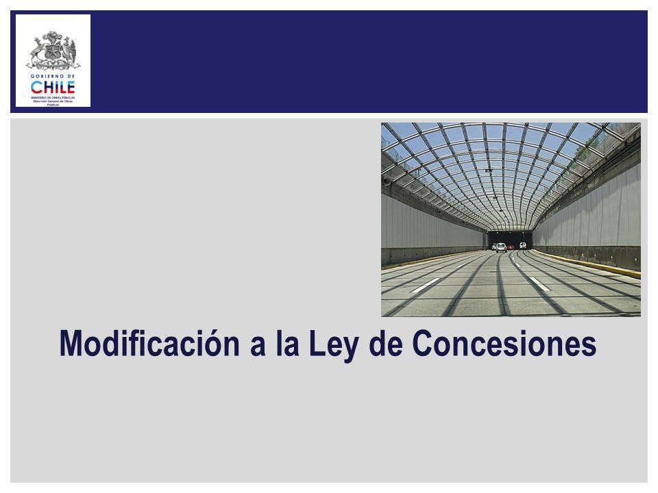 Modificación a la Ley de Concesiones