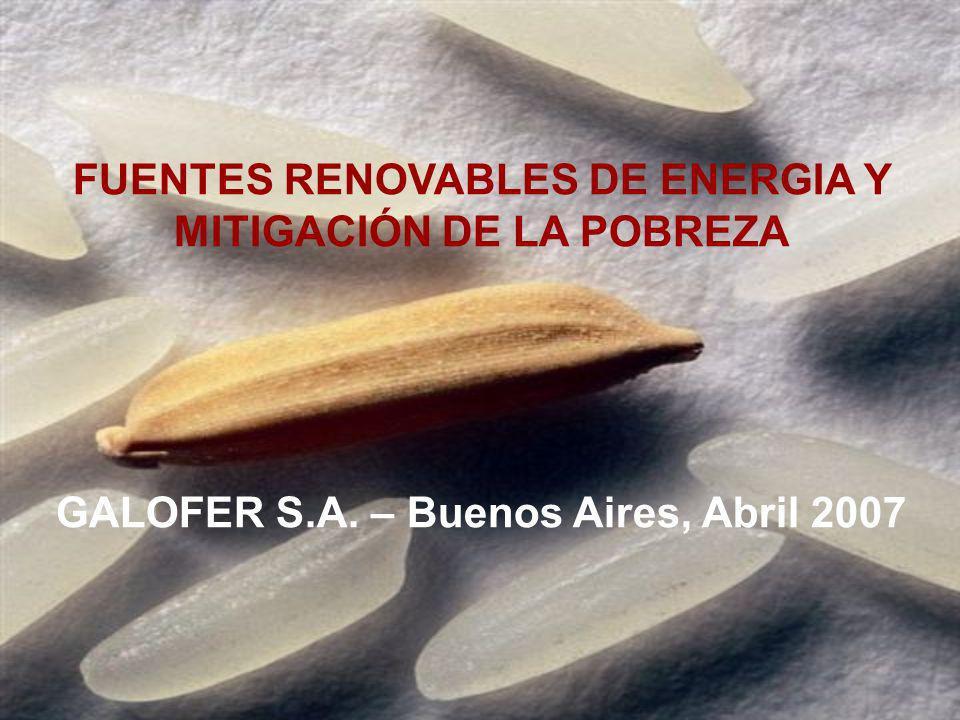 FUENTES RENOVABLES DE ENERGIA Y MITIGACIÓN DE LA POBREZA