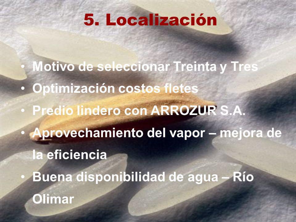 5. Localización Motivo de seleccionar Treinta y Tres