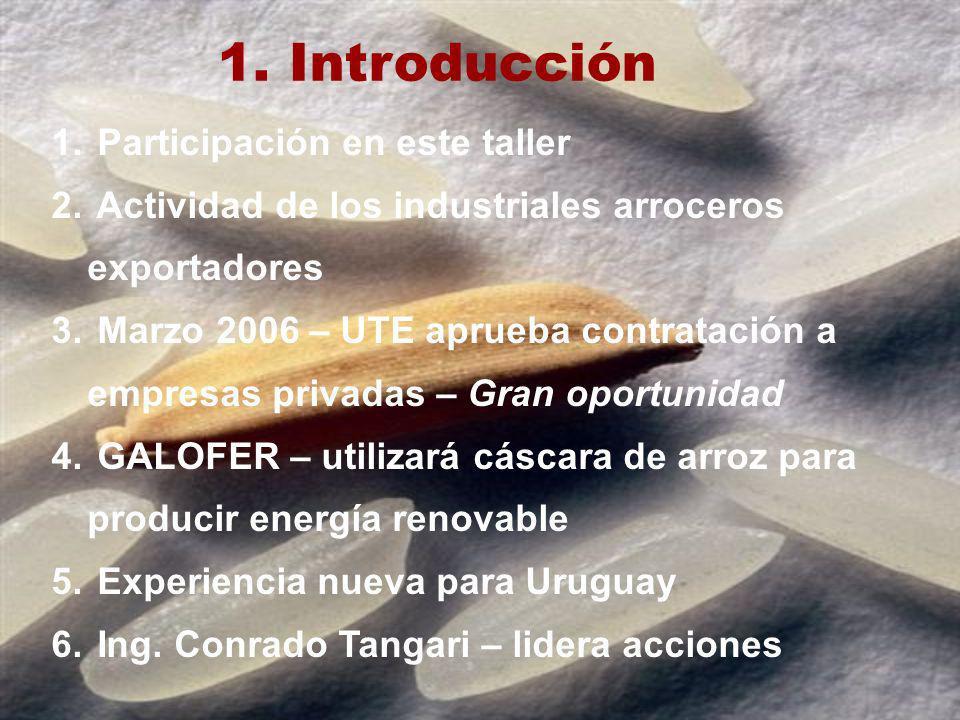 Introducción Participación en este taller