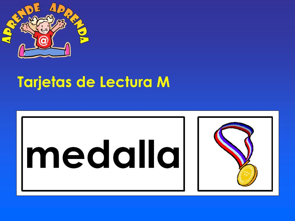 aprende aprenda @ Tarjetas de Lectura M