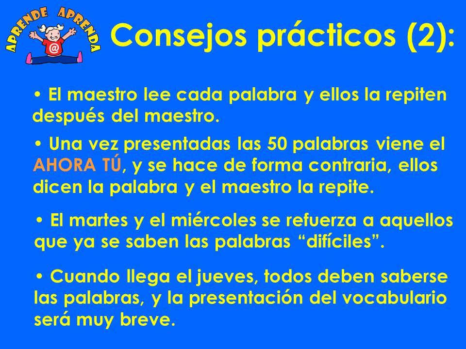Consejos prácticos (2):