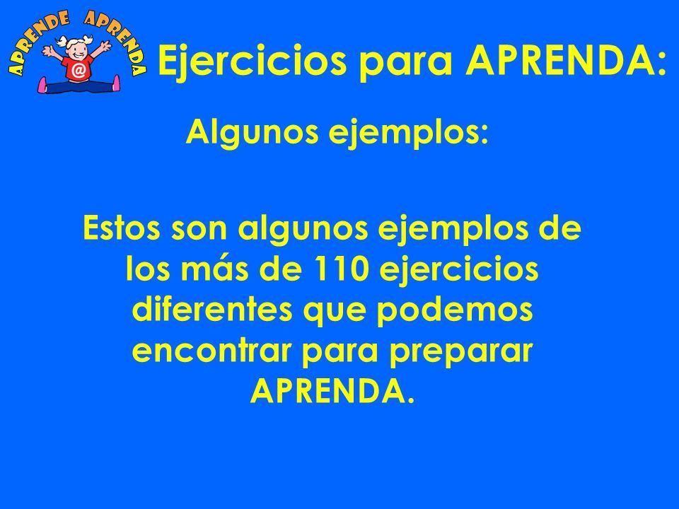 Ejercicios para APRENDA: