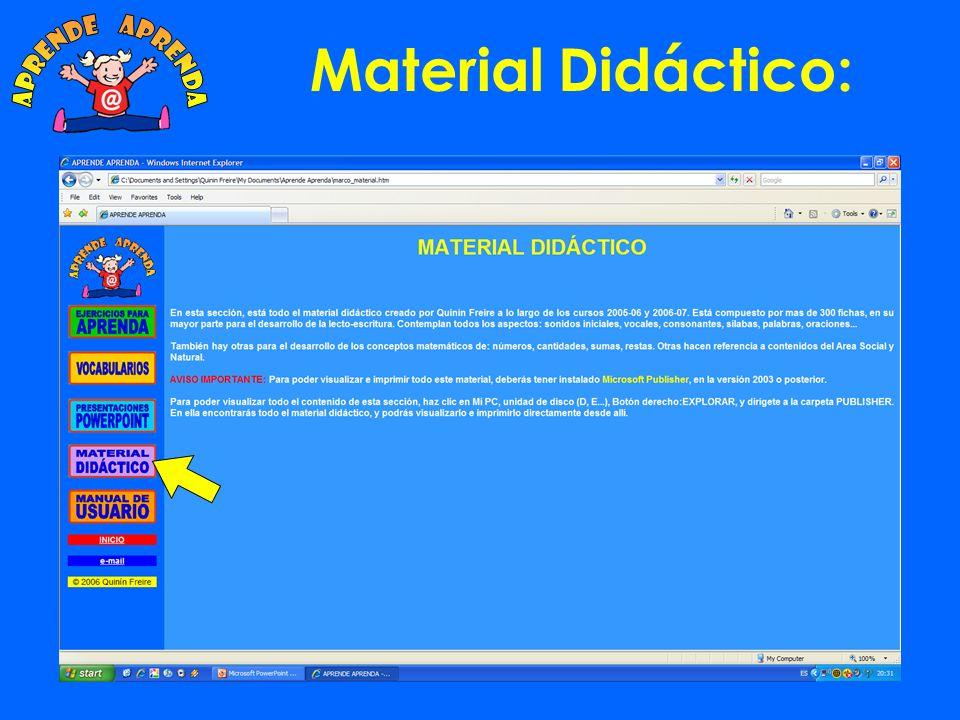 aprende aprenda Material Didáctico: