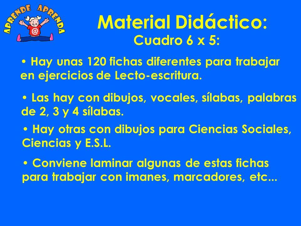 Material Didáctico: aprende aprenda Cuadro 6 x 5: