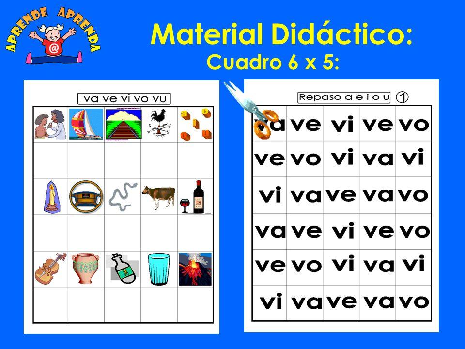 aprende aprenda Material Didáctico: Cuadro 6 x 5: