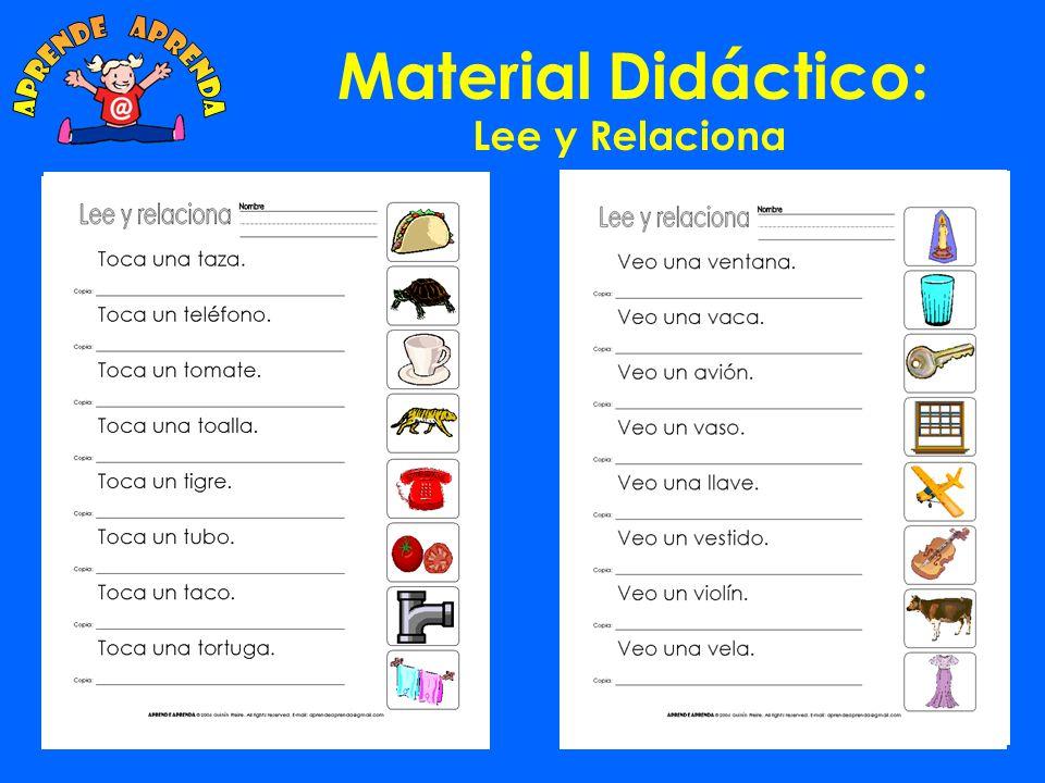 aprende aprenda Material Didáctico: Lee y Relaciona