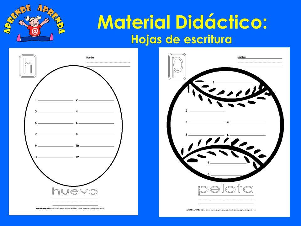Material Didáctico: aprende aprenda Hojas de escritura