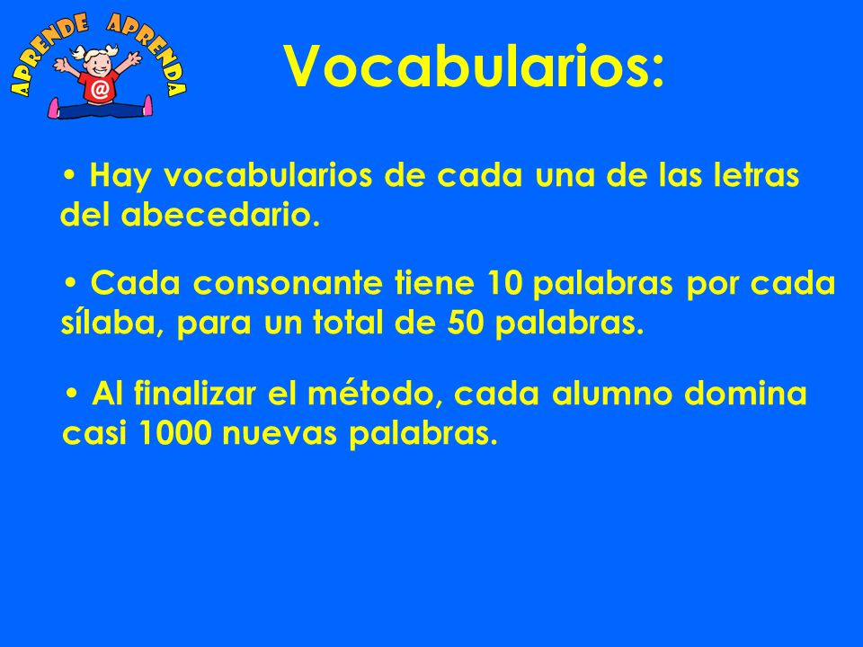 Vocabularios: aprende aprenda