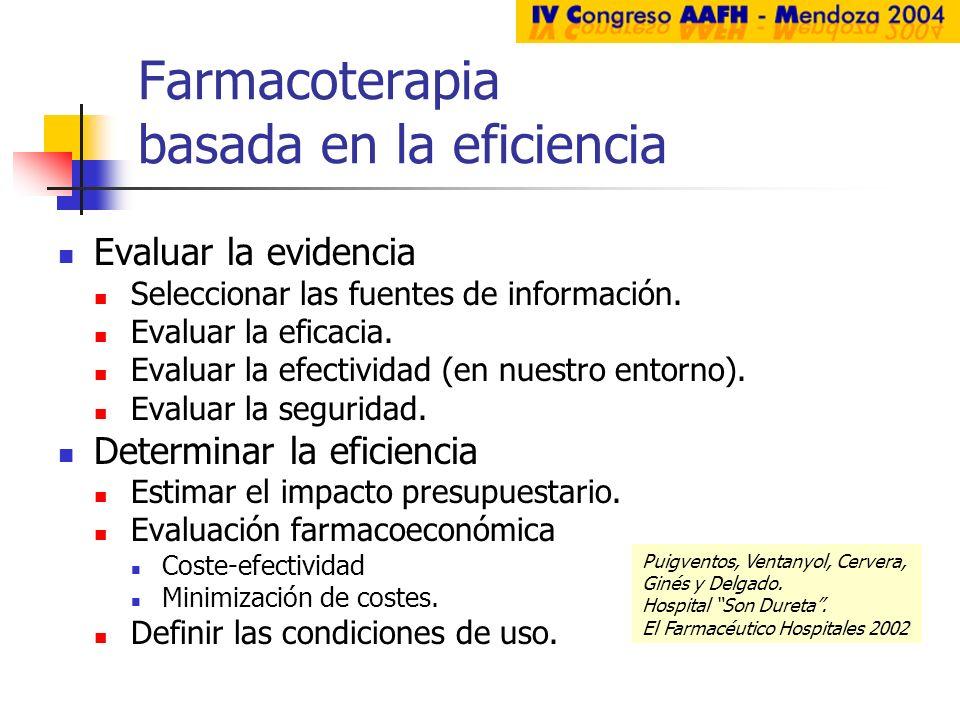 Farmacoterapia basada en la eficiencia