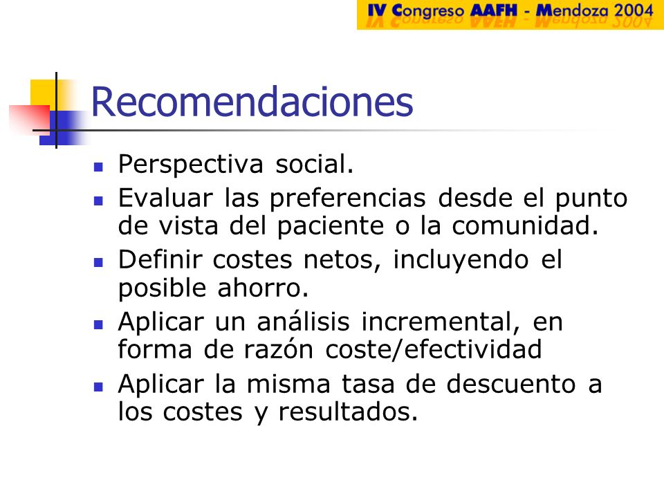Recomendaciones Perspectiva social.