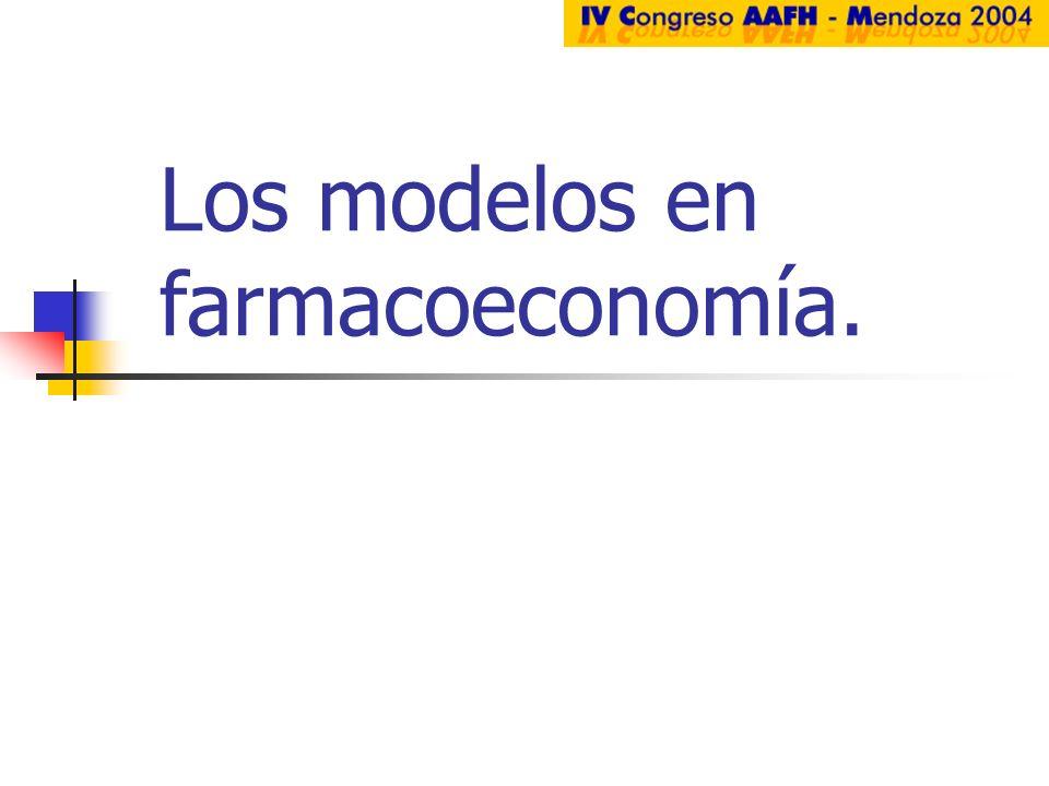 Los modelos en farmacoeconomía.