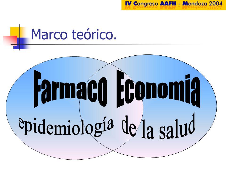 Marco teórico. Farmaco Economia epidemiología de la salud
