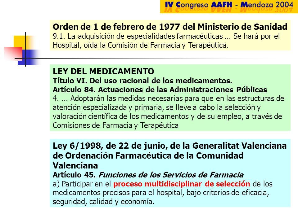 Orden de 1 de febrero de 1977 del Ministerio de Sanidad