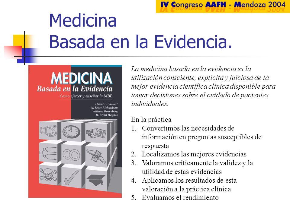 Medicina Basada en la Evidencia.