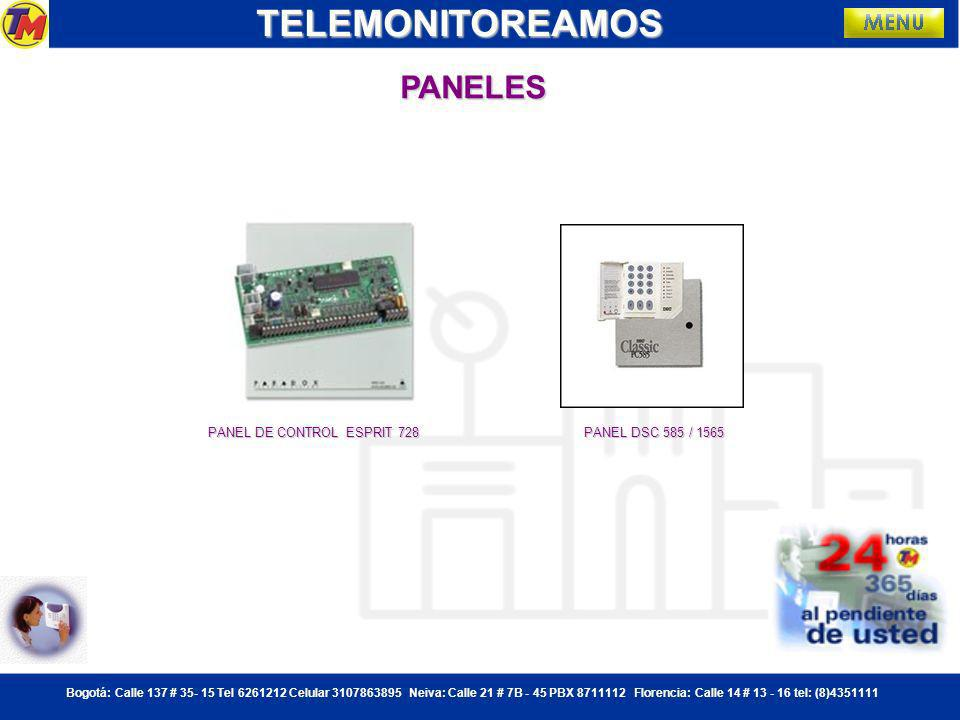 TELEMONITOREAMOS PANELES PANEL DE CONTROL ESPRIT 728