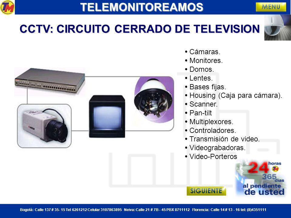 CCTV: CIRCUITO CERRADO DE TELEVISION