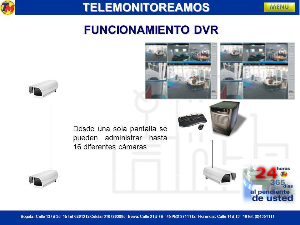 TELEMONITOREAMOS FUNCIONAMIENTO DVR