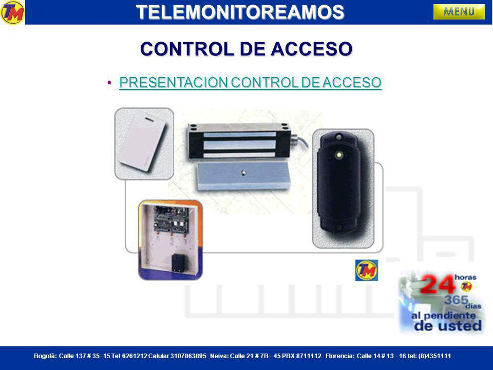 TELEMONITOREAMOS CONTROL DE ACCESO PRESENTACION CONTROL DE ACCESO