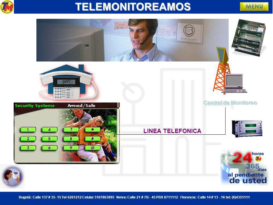 TELEMONITOREAMOS Central de Monitoreo LINEA TELEFONICA