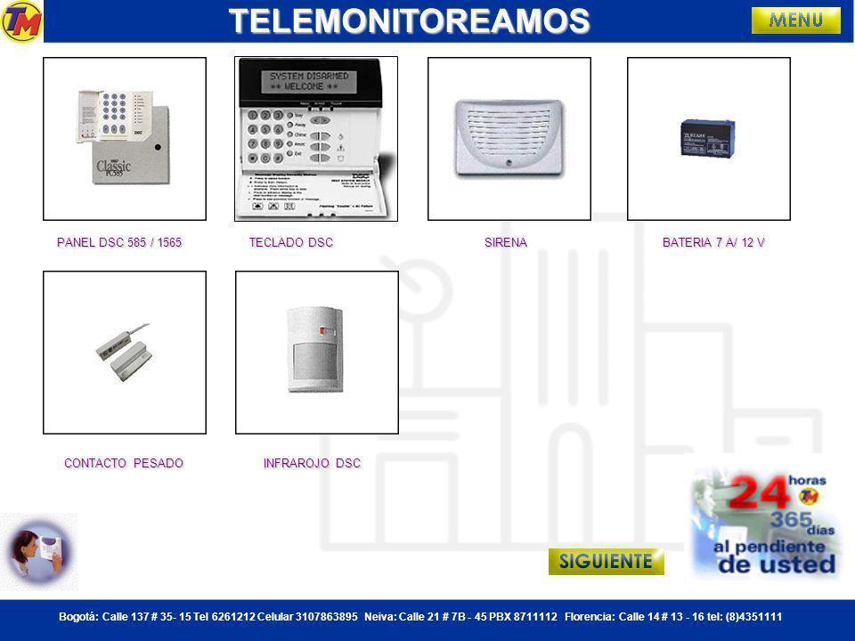 TELEMONITOREAMOS PANEL DSC 585 / 1565 TECLADO DSC SIRENA