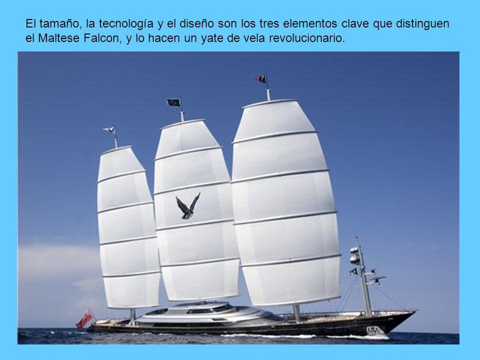 El tamaño, la tecnología y el diseño son los tres elementos clave que distinguen el Maltese Falcon, y lo hacen un yate de vela revolucionario.