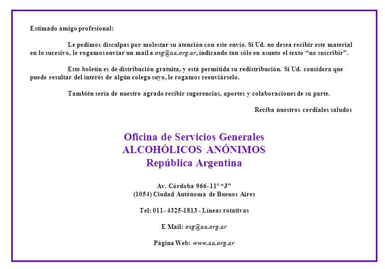 Oficina de Servicios Generales (1054) Ciudad Autónoma de Buenos Aires