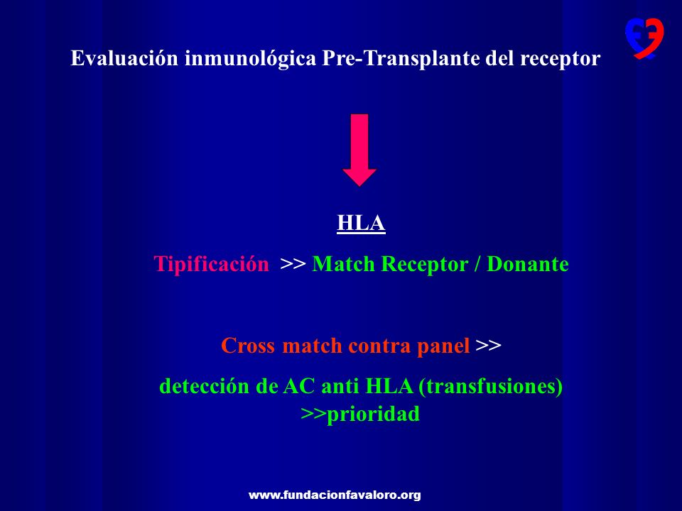 Evaluación inmunológica Pre-Transplante del receptor