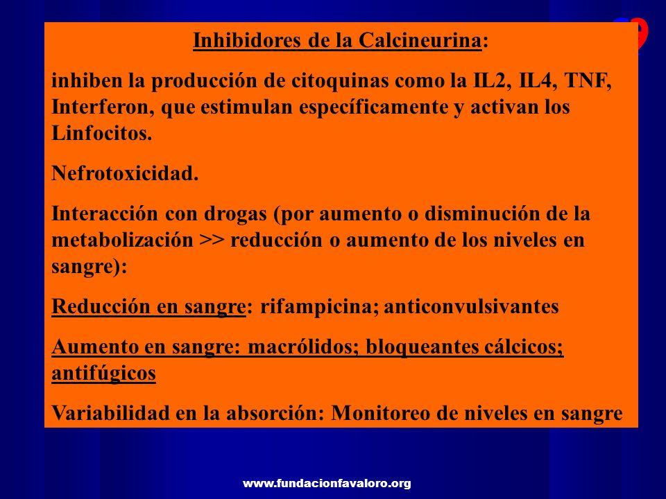 Inhibidores de la Calcineurina: