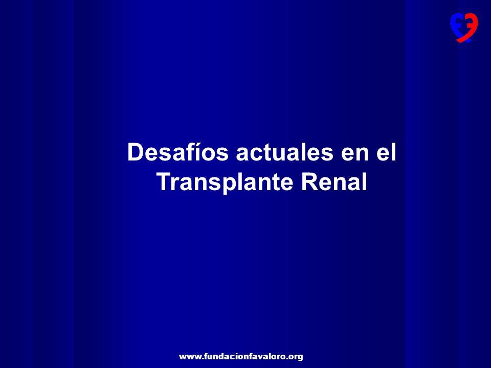 Desafíos actuales en el Transplante Renal