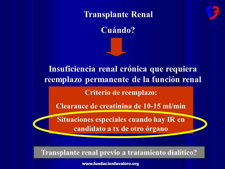 Transplante Renal Cuándo