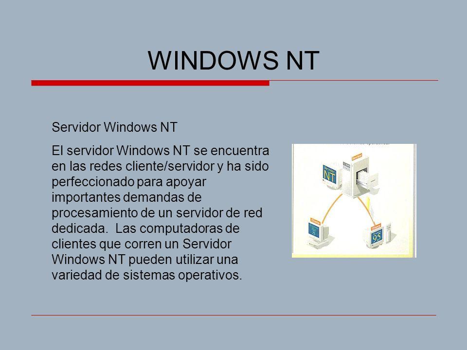 WINDOWS NT Servidor Windows NT