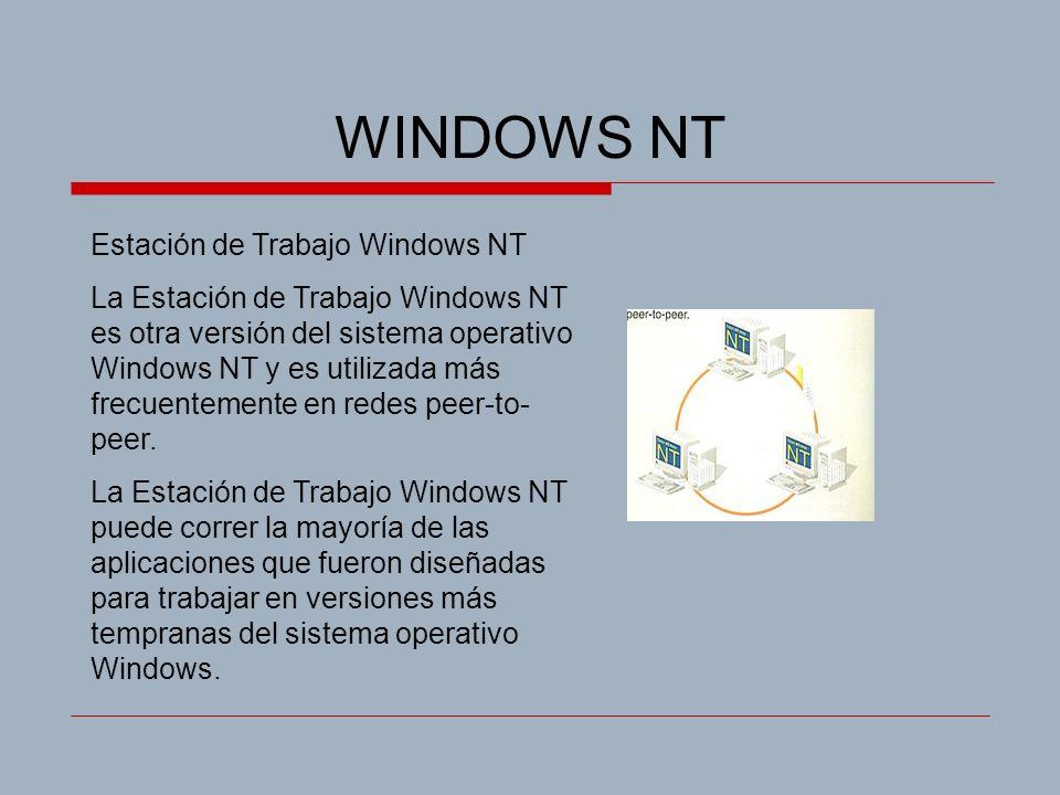 WINDOWS NT Estación de Trabajo Windows NT