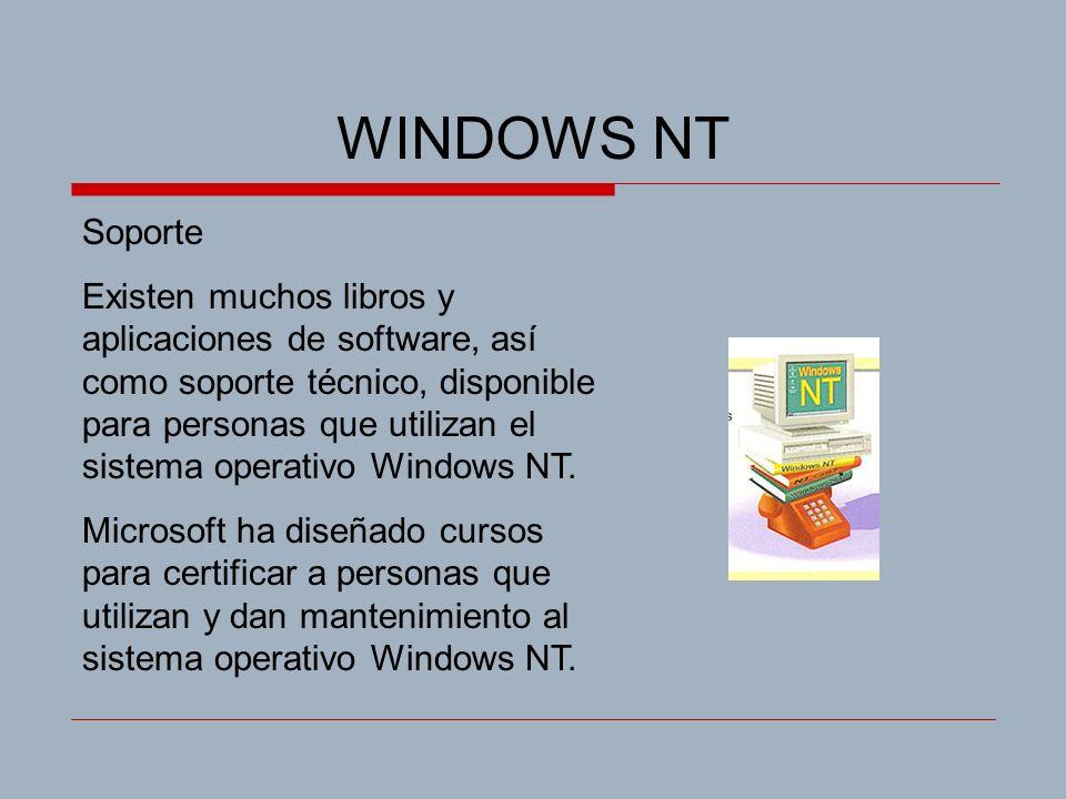 WINDOWS NT Soporte.