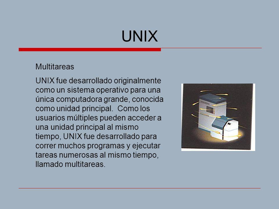 UNIX Multitareas.