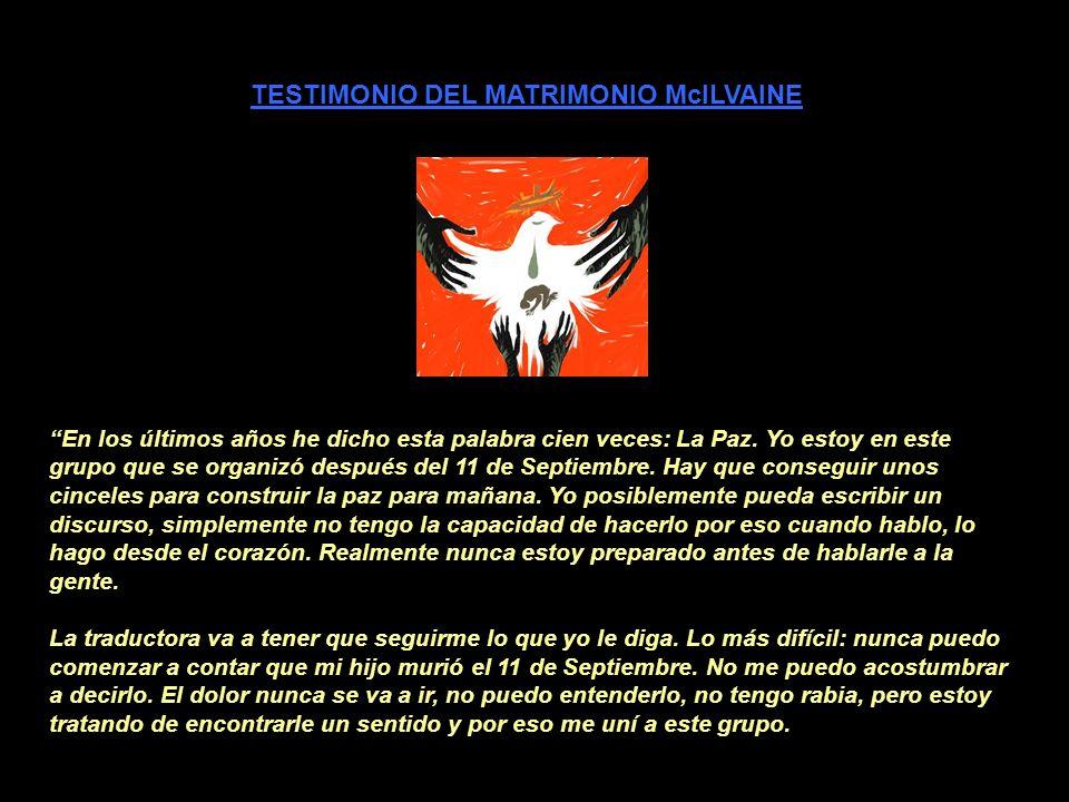 TESTIMONIO DEL MATRIMONIO McILVAINE